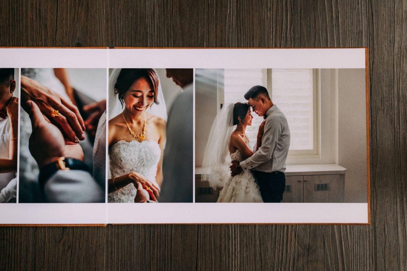 婚攝 婚禮紀錄 成品 皮革相本 故事排版